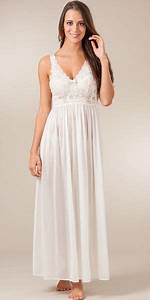Plus Shadowline Silhouette Sleeveless Long Nightgown