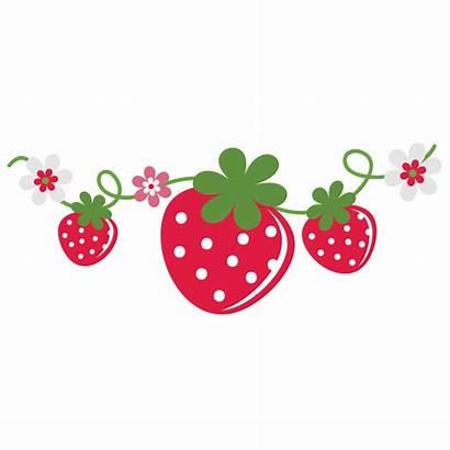 Strawberry Shortcake Clipart Strawberries Flower Vine Frame
