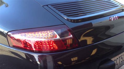 Spyder Red/clear Led Tail Lights For 1997-2004 Porsche 911