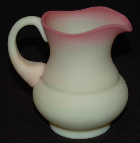 Fenton Burmese L by Fenton Glass Co Burmese Satin Glass Creamer From