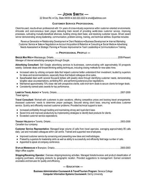 Customer Service Resume Templates by 32 Best Best Customer Service Resume Templates Sles
