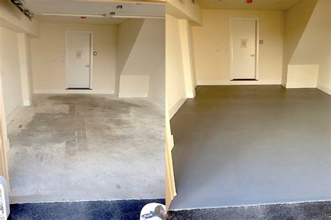 garage floor paint before and after epoxy garage floor philadelphia laffco painting
