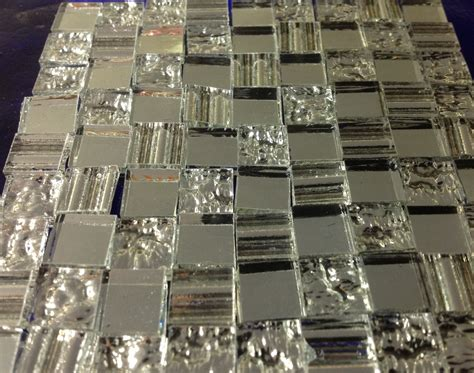 100 textured 3 mirror mix tiles stained glass mosaic