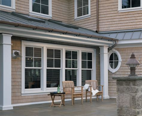 andersen  series woodwright tilt wash double hung windows  modified colonial grilles