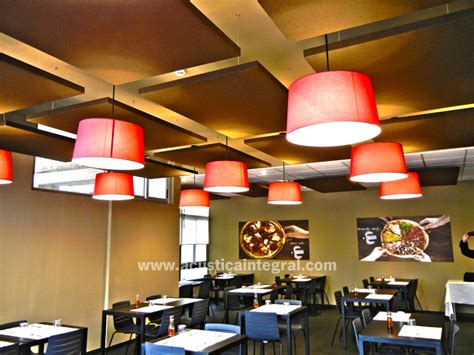 restaurant kitchen ceiling tiles absorbent treatment with acoustic panels for a restaurant 4778