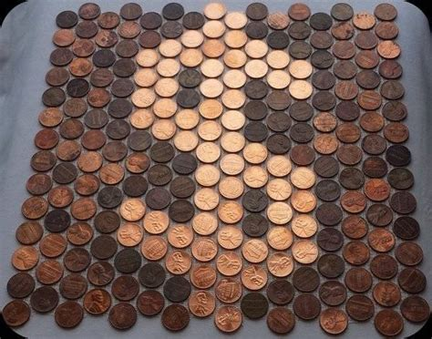 what are pennies made of pennies as tile order mesh backed real penny tile