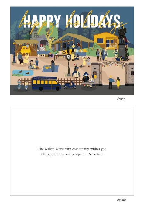presenting   holiday card design wilkes university
