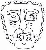 Pages Colouring Mayan Masks Coloring Template Printable South Mask America Aztec Geography Outline Craft Spanish Animal Printablecolouringpages Map Da Paper sketch template