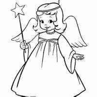 christmas angels colouring pictures and clip art imagesphotos - Black Christmas Angels
