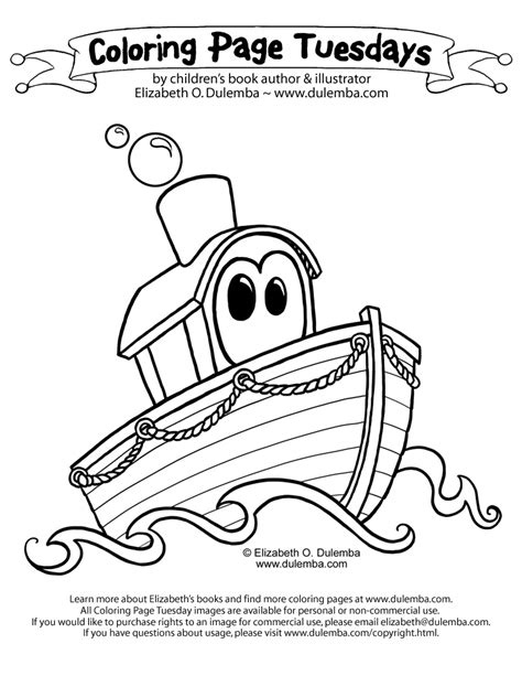 Big Boat Coloring Pages by Coloring Page Tuesday Boat
