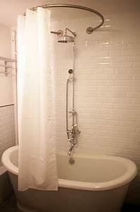 Barre De Douche Arrondie : barre de rideau de douche circulaire galbobain et ~ Premium-room.com Idées de Décoration