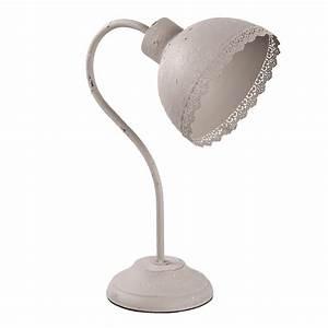Claire Und Eef : schreibtischlampe claire taupe beige grau metall shabby chic lampe tischlampe e2 ~ Eleganceandgraceweddings.com Haus und Dekorationen