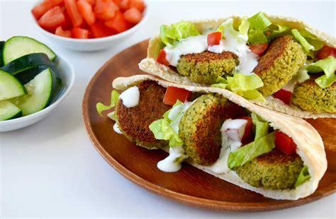 taste crispy homemade baked falafel