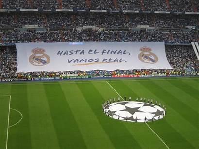Madrid League Champions Santiago Stadium Background Soccer