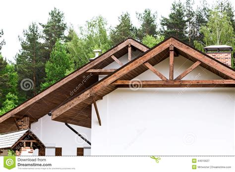New Home Trusses Stock Photo