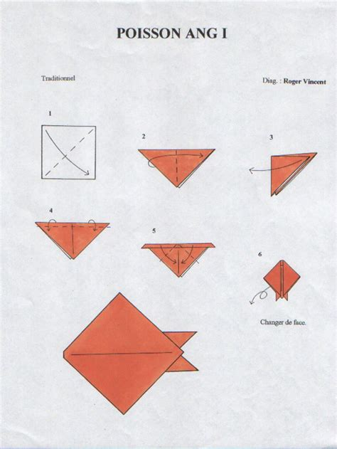 Origami Poisson  Pirate !!!!  Pinterest  Origami Facile