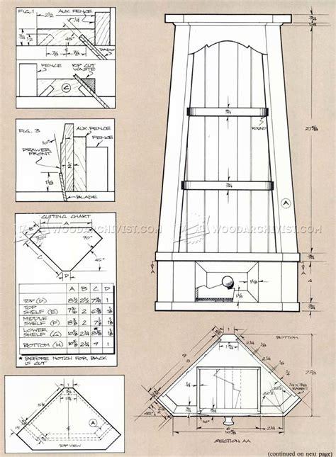 Corner Cupboard Plans • Woodarchivist