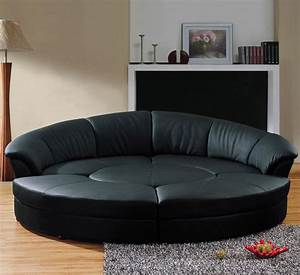 contemporary circle black leather sectional sofa set with With sectional sofas circle furniture