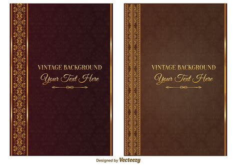 vintage book covers   vector art stock