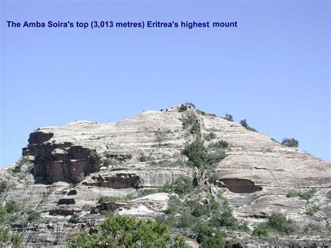 Eritrea highest mountain, the Amba Soira - 3013 meters