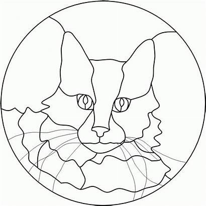 Stained Patterns Glass Mosaic Animal Cat Templates