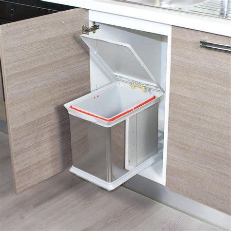 poubelle integree meuble cuisine poubelle de cuisine encastrable en inox dravyn 16 litres
