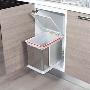 Tiroir Coulissant Cuisine : poubelle tiroir coulissant ~ Premium-room.com Idées de Décoration