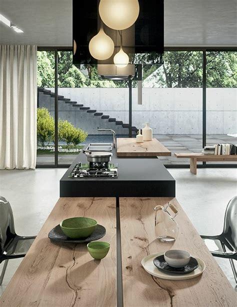 ilot cuisine avec table impressionnant plan de cuisine ouverte sur salle a manger