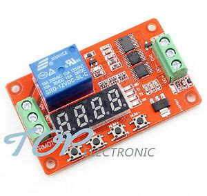 12v dc multifunction self lock relay plc cycle delay time
