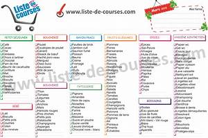 Listes De Courses : liste de courses type a imprimer bing images rangement ~ Nature-et-papiers.com Idées de Décoration