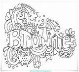 Doodle Brownies Toadstool Owl Brownie Coloring Scout Guides Scouts Badges Pages Activities Colouring Craft Guide Girlguiding Sparks Camping Fun Troop sketch template