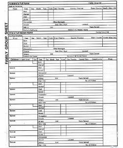 Family Group Sheet Template Pdf Free Download Printable