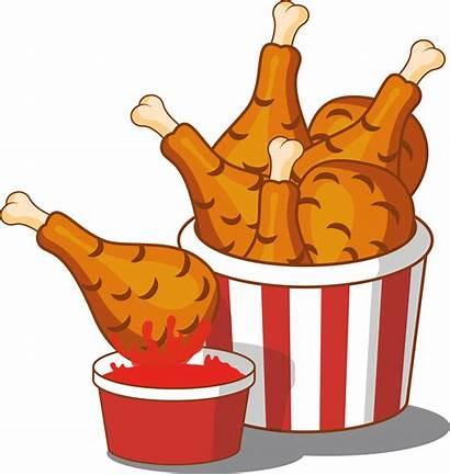 Chicken Fried Clipart Cartoon Fry Fries Transparent