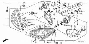 Honda Atv 2007 Oem Parts Diagram For Headlight