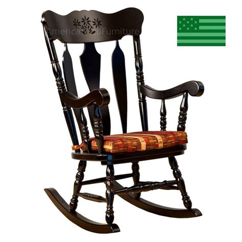 amish homestead rocking chair solid wood made in
