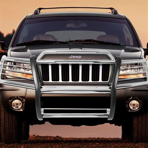 jeep grand cherokee front grill 99 04 jeep grand cherokee wj front bumper protector brush