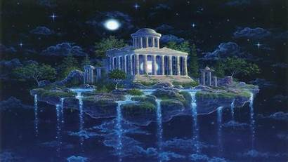 Greek Ancient Greece Temple Fantasy Wallpapers Artistic