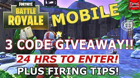 fortnite mobile  code giveaway  hrs  enter
