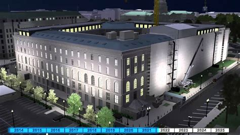 timeline animation  cannon house office building renewal