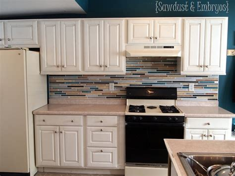 Painting Kitchen Backsplash by How To Paint A Backsplash To Look Like Tile Reality Daydream