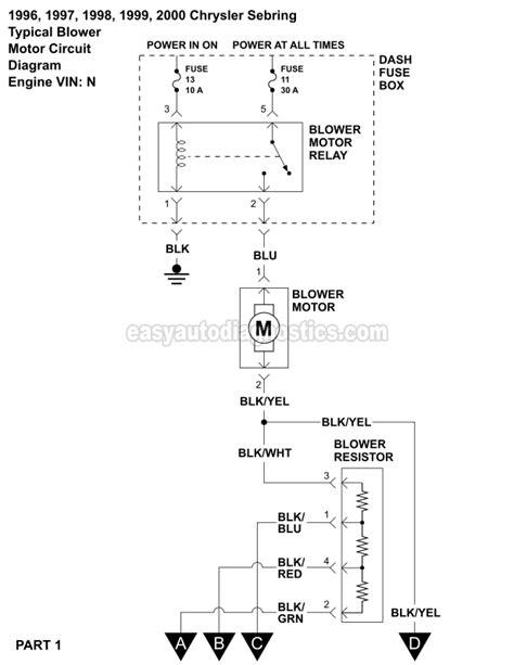blower motor wiring diagram     sebring