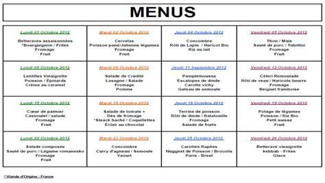 menu scolaire new calendar template site