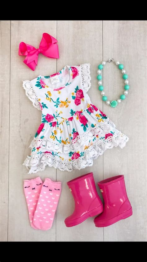 summer cotton design baby girls kids boutique clothes