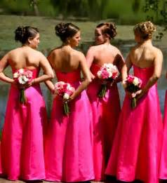 bridesmaid dresses pink bright pink bridesmaid dress designs wedding dress