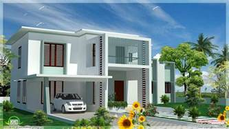 Flat Houses Designs Pictures by 4 Bedroom Modern Flat Roof House Kerala Home Design And