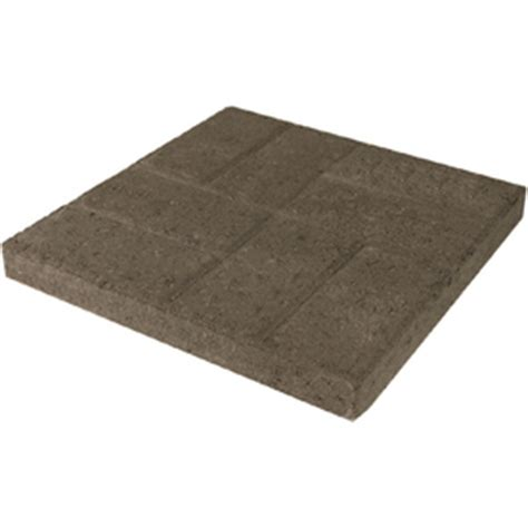 shop gray square concrete patio common 16 in x 16