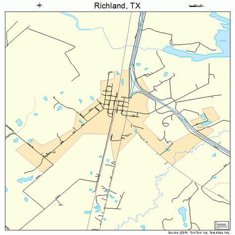 richland tx richland texas street map 4861820
