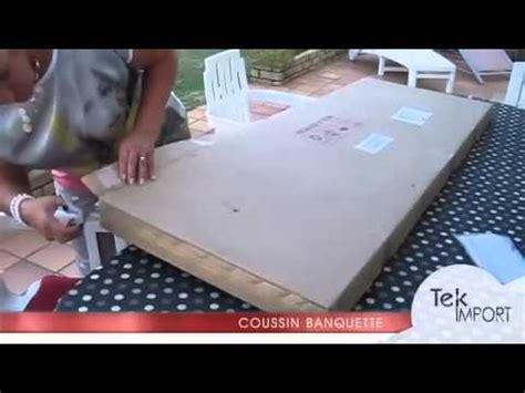 canape caravane coussin banquette 150x54cm tek import