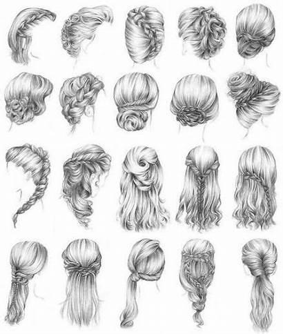 Hair Braids Draw Drawing Braided Braid Bloggerium
