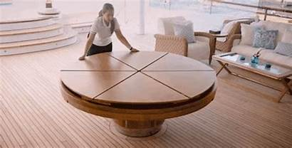 Table Round Dining Expandable Wood Cool Check